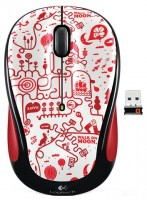Logitech Wireless Mouse M325 red smile Red-Black USB