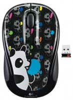 Logitech Wireless Mouse M325 panda candy Black USB