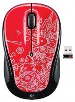 Logitech Wireless Mouse M325 red topogrpahy Red-Black USB
