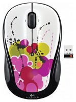 Logitech Wireless Mouse M325 White Ink Trail White USB