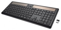 Trust Helios Wireless Solar Keyboard Black USB