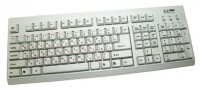 L-PRO KB-201P Keyboard White PS/2