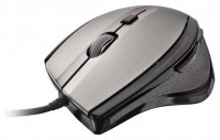 Trust MaxTrack Mouse Silver-Black USB