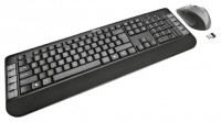 Trust Tecla Wireless Multimedia Keyboard & Mouse Black-Silver USB
