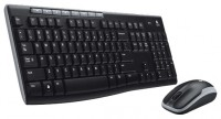 Logitech Wireless Combo MK260 Black USB