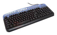 Oklick 330 M Multimedia Keyboard Black-Blue USB+PS/2