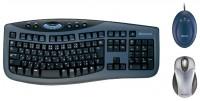 Microsoft Wireless Optical Desktop 3000 Black-Blue USB