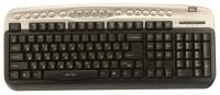 Oklick 330 M Multimedia Keyboard Black-Silver USB+PS/2