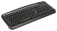 Oklick 320 M Multimedia Keyboard Black PS/2