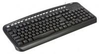 Oklick 320 M Multimedia Keyboard Black USB+PS/2