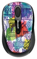 Microsoft Wireless Mobile Mouse 3500 Artist Edition Mike Perry - Design 2 Blue-Black USB