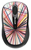Microsoft Wireless Mobile Mouse 3500 Artist Edition Mike Perry - Design 1 White-Black USB