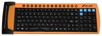 Bliss Flexible Keyboard MFR125 Black-Orange USB+PS/2