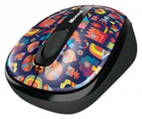 Microsoft Wireless Mobile Mouse 3500 Artist Edition Matt Lyon Red-Blue USB