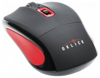 Oklick 425MW Wireless Optical Mouse Black-Red USB