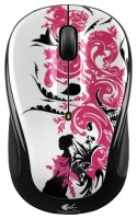 Logitech Wireless Mouse M325 Floral Spiral Red-Black USB