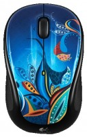 Logitech Wireless Mouse M325 Paisley Pond Silver-Black USB