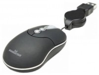 Manhattan MM3 Optical Mobile Micro Mouse (176873) Black USB