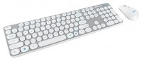 Trust Darcy Wireless Keyboard with mouse Silver USB