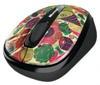 Microsoft Wireless Mobile Mouse 3500 Artist Edition Zansky Red-Black USB