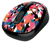Microsoft Wireless Mobile Mouse 3500 Geometric Black-Blue USB