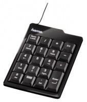 HAMA Slimline Keypad SK130 Black USB