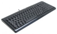 Logitech Ultra-Flat Keyboard Black USB+PS/2