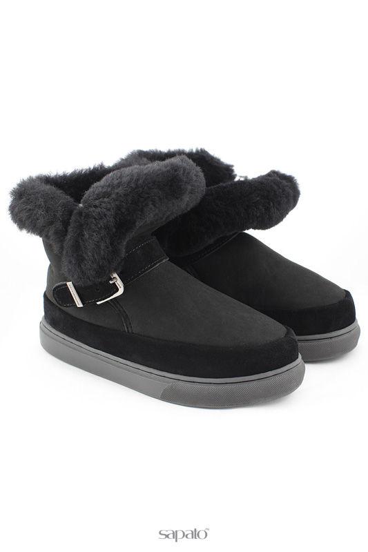 """Угги Shepherd""""s Life Ботинки из натуральной овчины чёрные"""