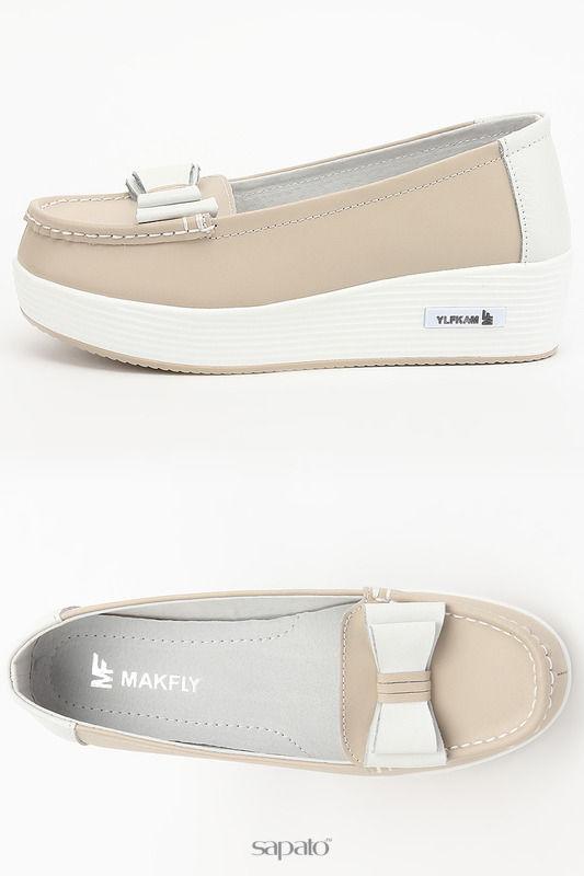 Туфли MAKFLY Туфли бежевые