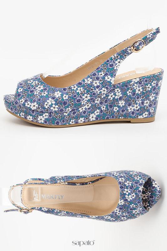 Сандалии MAKFLY Туфли открытые голубые