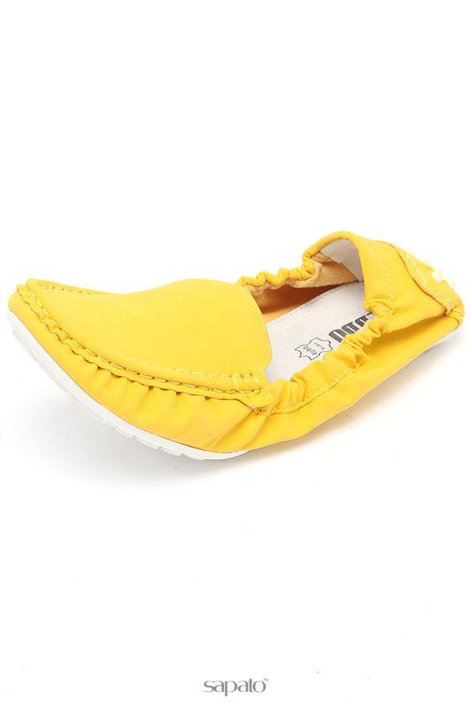 Мокасины Keddo Туфли жёлтые