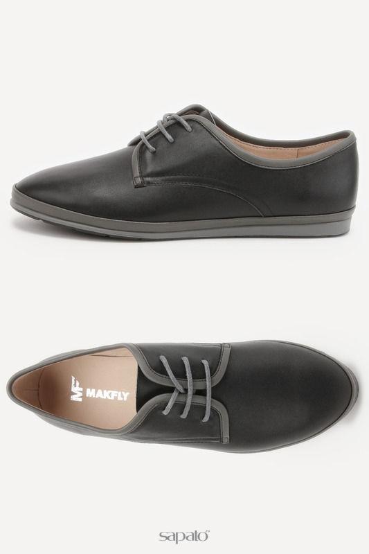 Ботинки MAKFLY Полуботинки чёрные