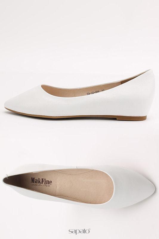 Балетки MakFine Туфли белые