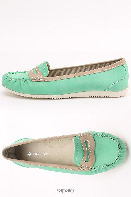 Мокасины Vigorous Туфли зеленые