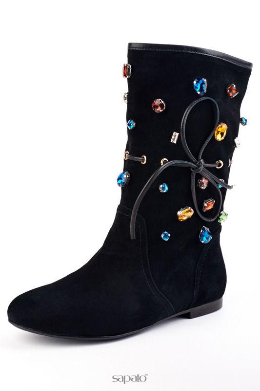 Сапоги Riccorona Ботинки чёрные