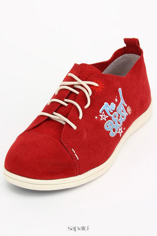 Ботинки NOBBARO Полуботинки красные