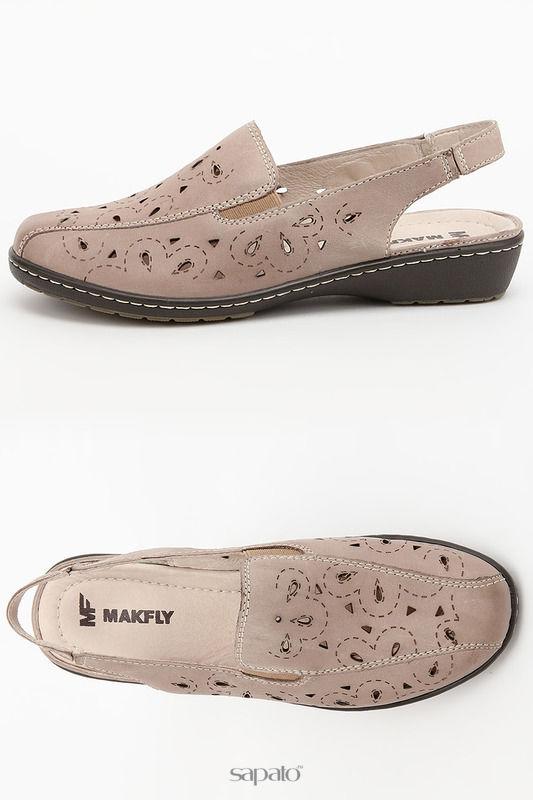 Босоножки MAKFLY Туфли открытые серые