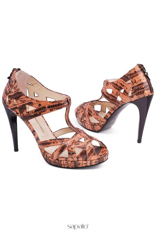 Босоножки ENRICO LUGANI Туфли оранжевые