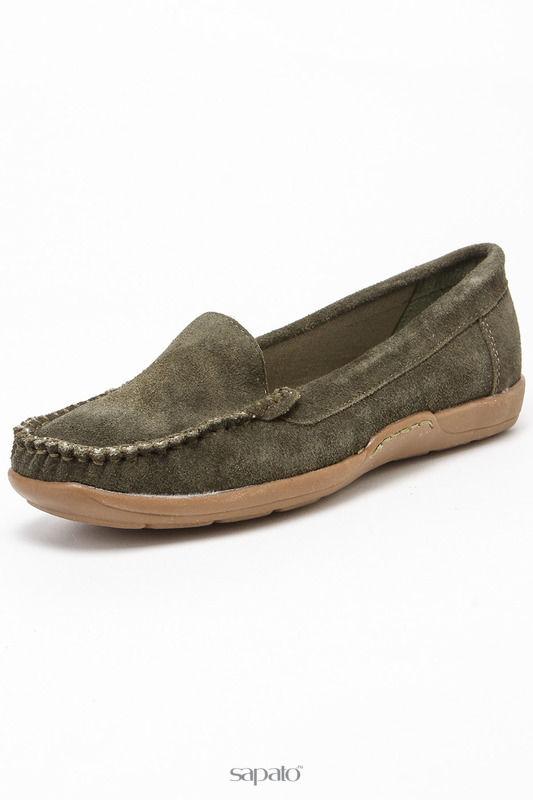 Мокасины Betsy Туфли зеленые