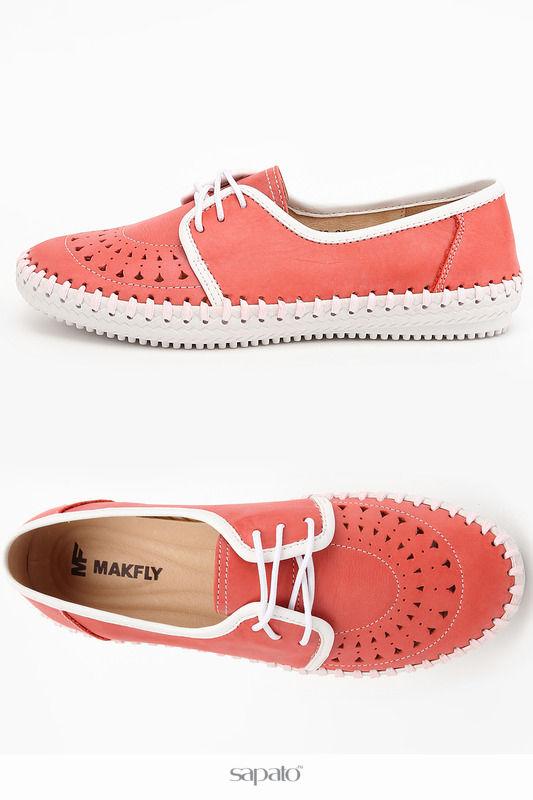 Ботинки MAKFLY Полуботинки розовые