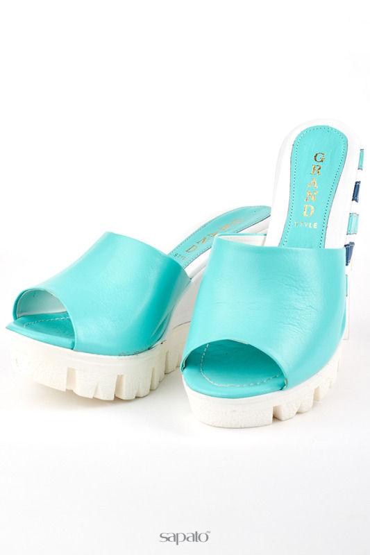Сабо Grand Style Туфли голубые