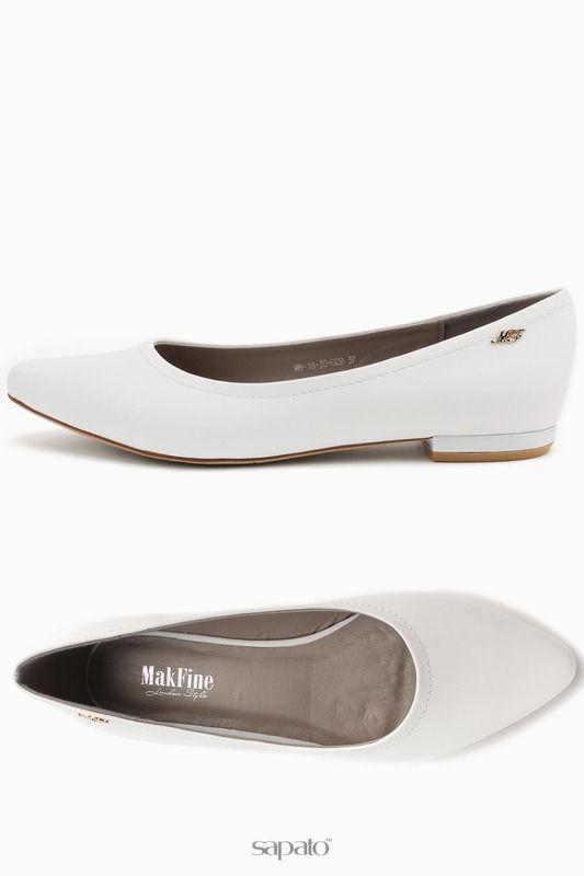 Балетки MakFine Туфли свадебные белые
