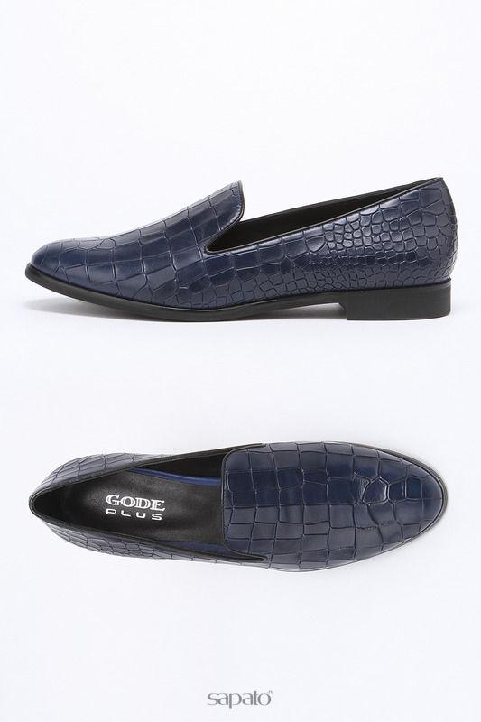 Туфли Gode Лоферы синие