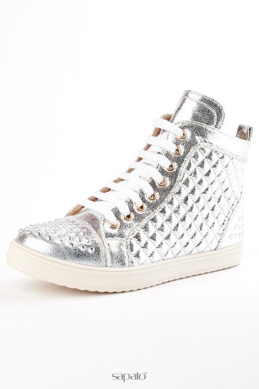 Кеды ELSI Ботинки серебристые