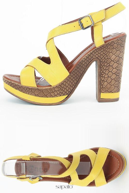 Босоножки Benta Туфли открытые жёлтые