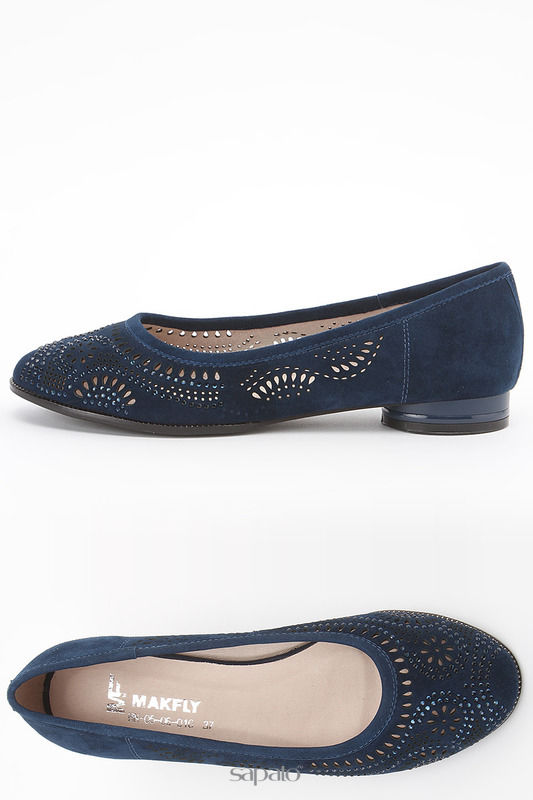 Балетки MAKFLY Туфли синие