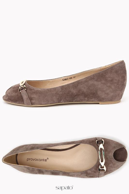 Балетки Provocante Туфли серые