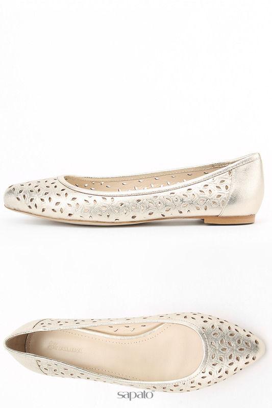 Балетки Alba Закрытые туфли золотистые