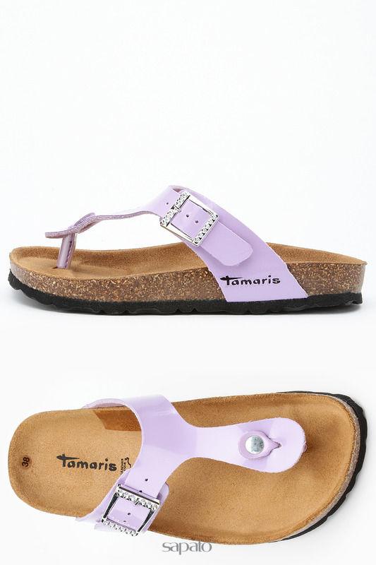 Шлепанцы Tamaris Шлепки фиолетовые