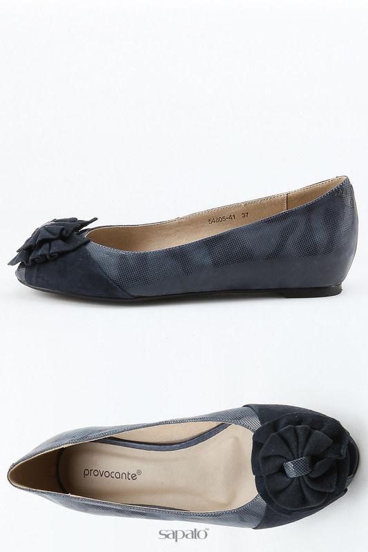 Балетки Provocante Туфли синие